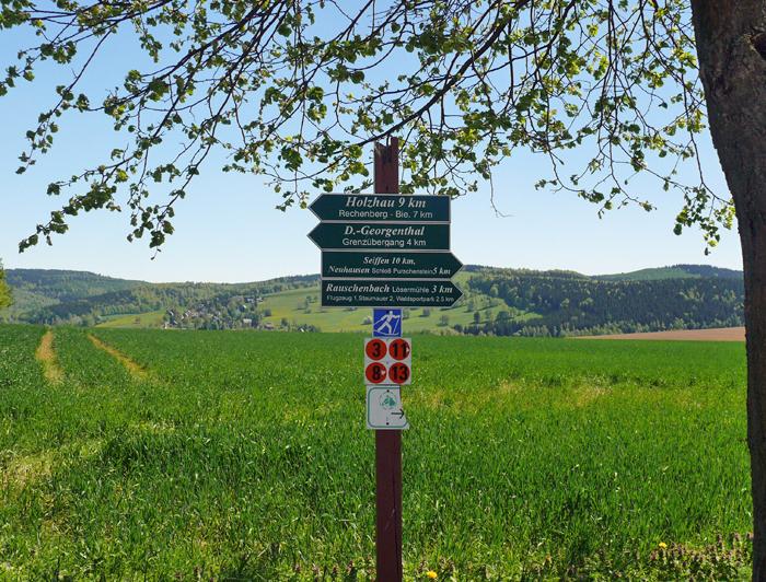 Wanderwegenetz Erzgebirge