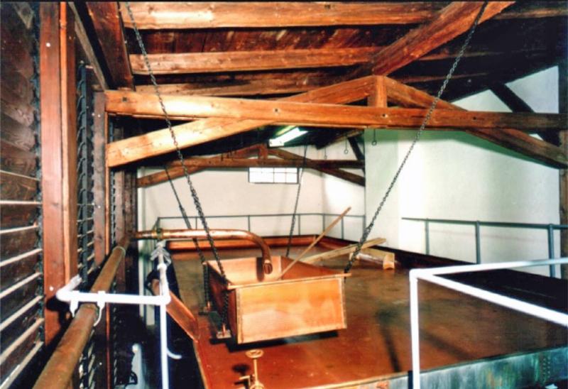 Das Kühlschiff in der Museumsbrauerei Rechenberg