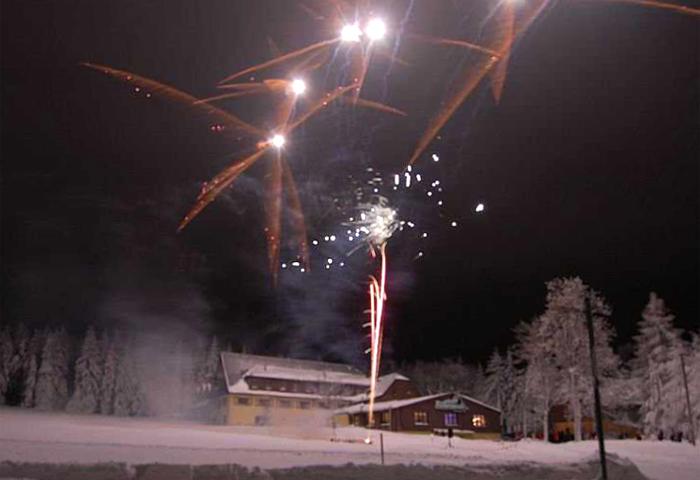 Silvester in der Fischerbaude, wir berüßen mit unsern Gästen das Neue Jahr