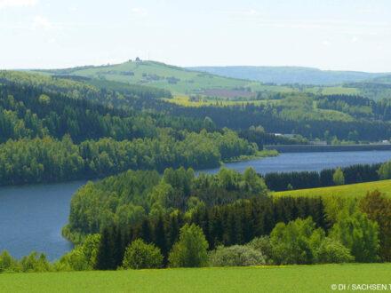 Talsperre Rauschenbach im Erzgebirge